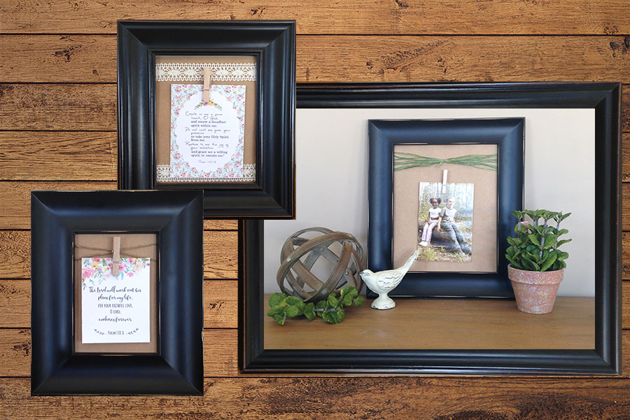 DIY Clothespin Picture Frames | More Like Grace