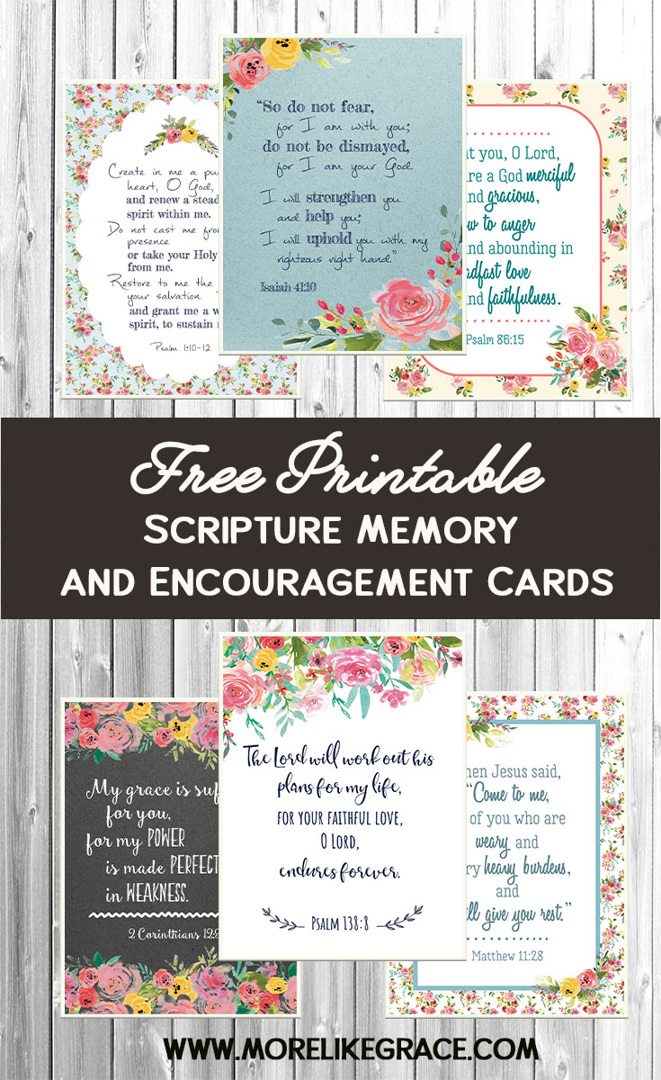 It is an image of Unforgettable Free Printable Scripture Cards