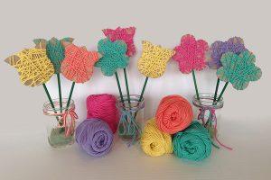 Easy Yarn Flowers