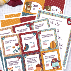 Thanksgiving Scavenger Hunt for Kids: Free Printable