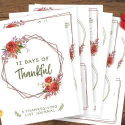 Free Printable List Journal: 12 Days of Thankful